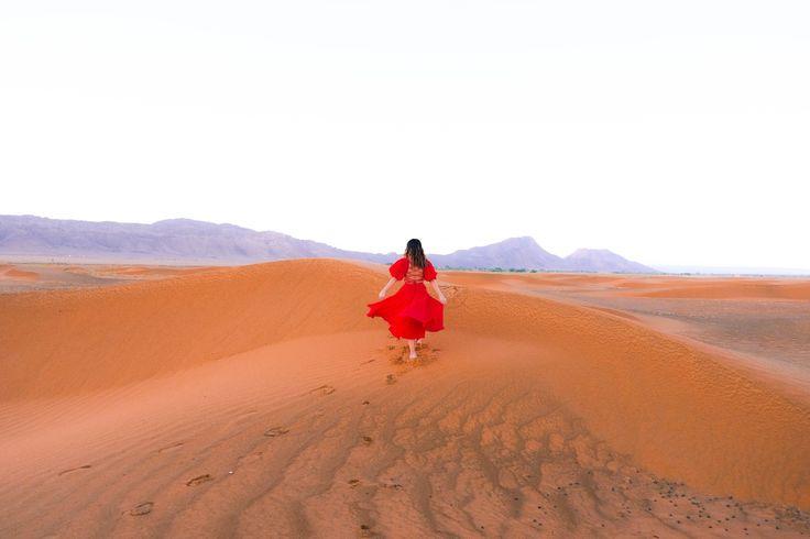Our camel excursion to the Sahara Desert.