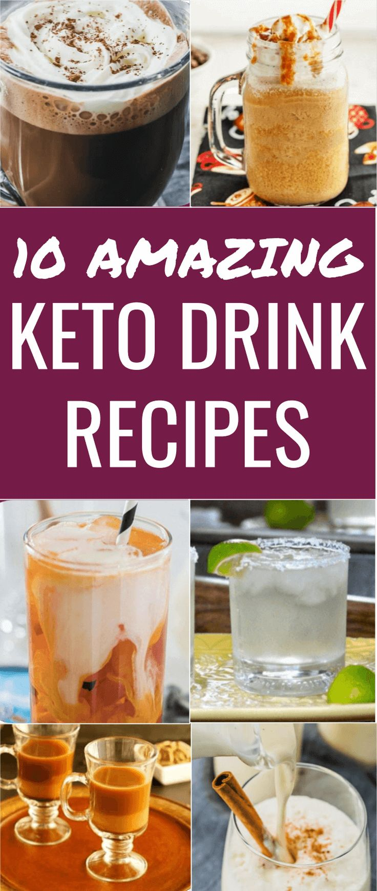 Here are the 10 best recipes for keto drinks! These are