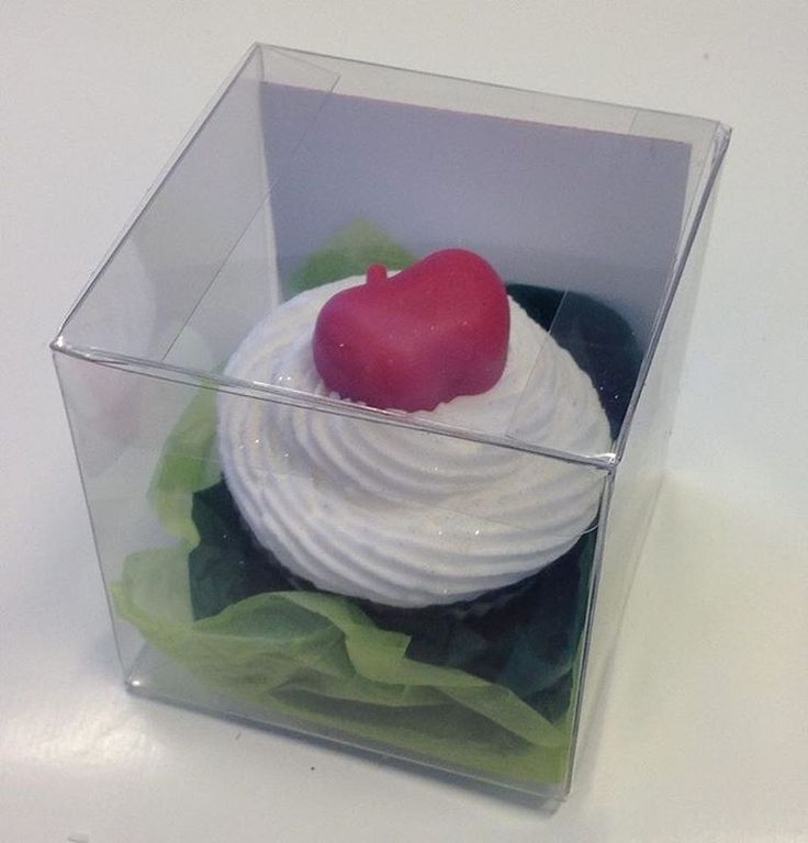 Soap in the giftbox.  Recyclable ofcourse.