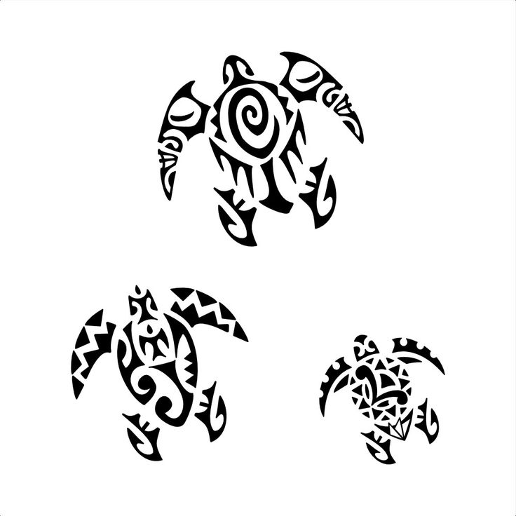 Lars turtles. Children. We designed in the past a turtle for Lars, and these three ones join it to represent his children, keeping the back flippers similar to symbolize their bond and union. From top, the biggest turtle includes a C that[...] More at TattooTribes.com