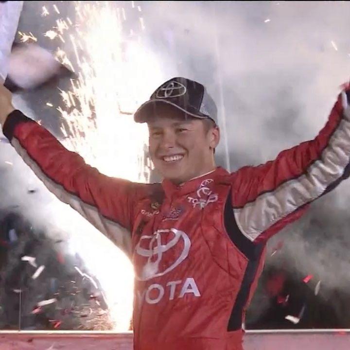 "@nascaronfox on Instagram: ""@cbellracing holds off @brandonjonesrac to claim his 3rd #NASCAR Trucks win of the season! #NASCARonFS1 @kbmteam #BuckleUp225"""