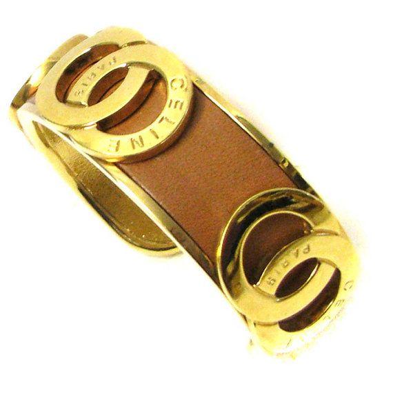 Bracelet Celine Ouvert En Plaqu 233 Or Vintage Bracelet
