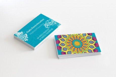 Diseño de Tarjetas Personales Medicina Holística