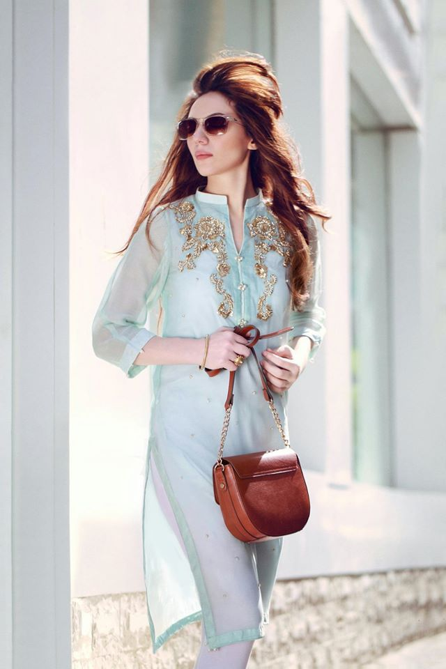 Pakistani Eid outfit by Agha Noor.