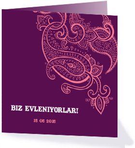 Ben je van plan een Turkse bruiloft te geven dan hoort hierbij natuurlijk een Turkse trouwkaart. Wij gaan trouwen, Biz evleniyorlar! Kijk voor meer Oosterse trouwkaarten op: http://www.kaartopmaat.nl/categorie/trouwkaarten/trouwkaarten-oosters.