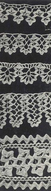 Five Patterns for Crochet Edgings using Ric Rac.