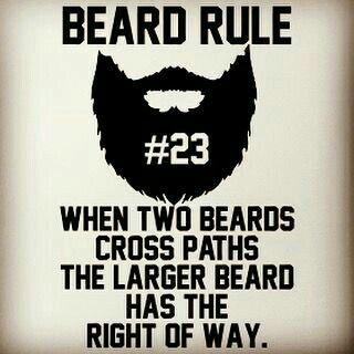 The Beard Rules would be fun on merchandise!