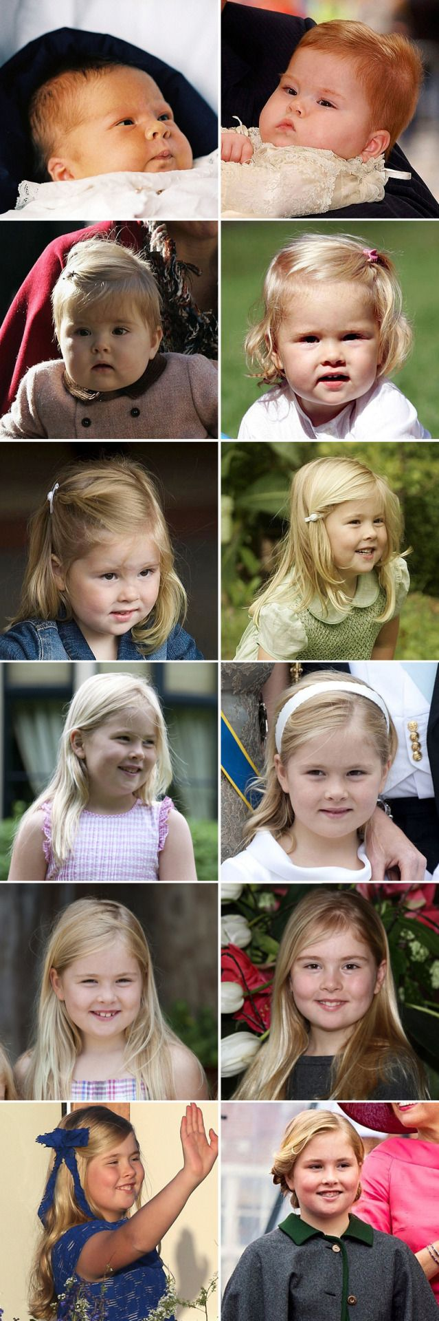 royalhair: Crown Princess Amalia-a picture for each of her 12 years (b…