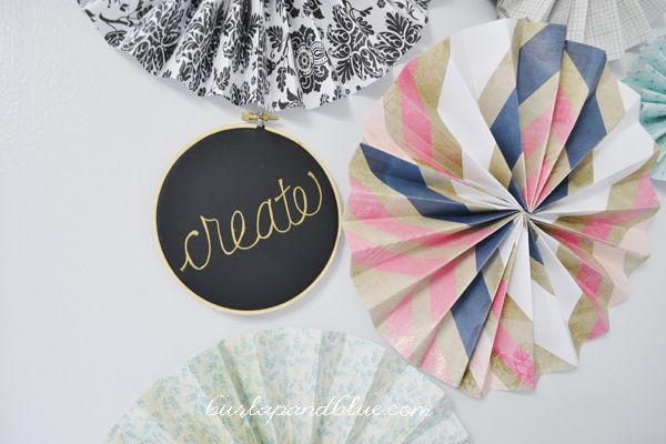From last week's craft room tour, you may remember the paper rosettes hanging on either side of the window. They were a last minute addition, but I'm so glad I took the time to make and…