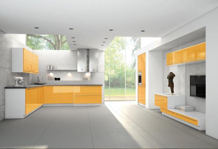 gelbe k che von burger bauformat yellow kitchen by. Black Bedroom Furniture Sets. Home Design Ideas