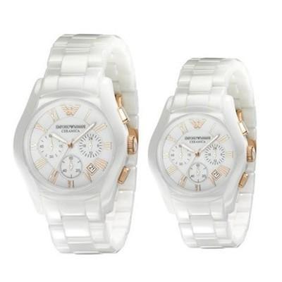 Couple Ceramic Watch From Emporio Armanies AR1416 & AR1417
