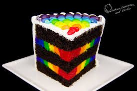 Image result for rainbow stripe cake