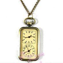 Relojes Hombre 2015 New Vintage Pocket Watches With Chain Necklace Double Calibration Clock Quartz Watch Nurse Relogio De Bolso