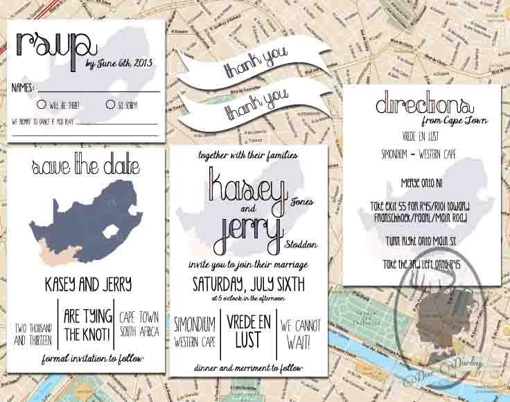 Wedding Invitation Stationery | Travel | Map