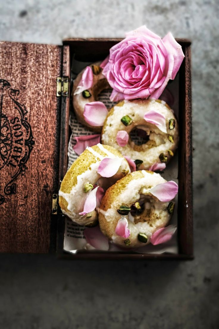 Persian Love Cake Doughnuts via Twigg Studios #recipe
