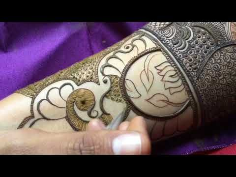 How to apply Most beautiful Mehndi design ever for bride   Full hand wrist Mehndi design for wedding - YouTube