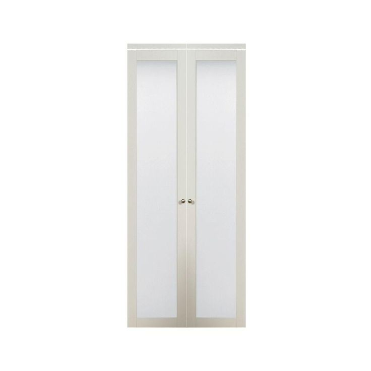 Truporte 24 in x 80 in 3010 series 1 lite tempered - Interior bifold doors with glass ...
