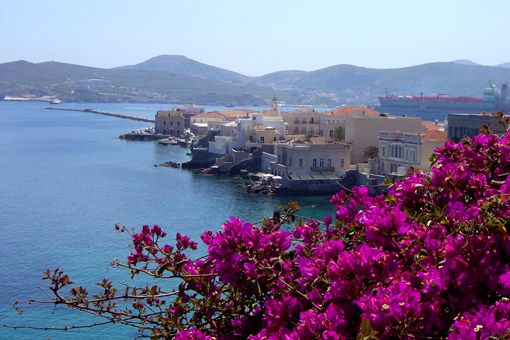 Vaporia in Syros, Greece.........the birthplace of MuMu organic