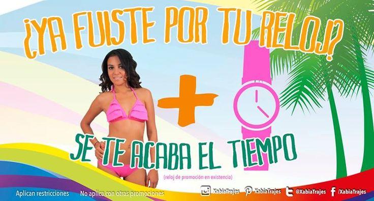 Este #Verano ve por tu #bikini a #XabiaStore y recibe un #reloj de regalo.