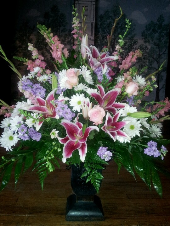 memorial flowers vase16total height - Common Flowers In Arrangements