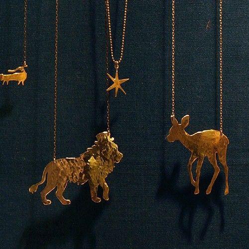 動物シルエットネックレス「シルクハットライオン」|ネックレス・ペンダント|ウケンムケン|ハンドメイド通販・販売のCreema