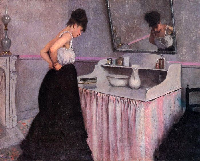 "Gustave Caillebotte, ""Woman at a Dressing Table"" 1873"