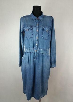 Kup mój przedmiot na #vintedpl http://www.vinted.pl/damska-odziez/inne/13558538-klasyczna-taliowana-sukienka-jeansowa-kaffe-36-nowa