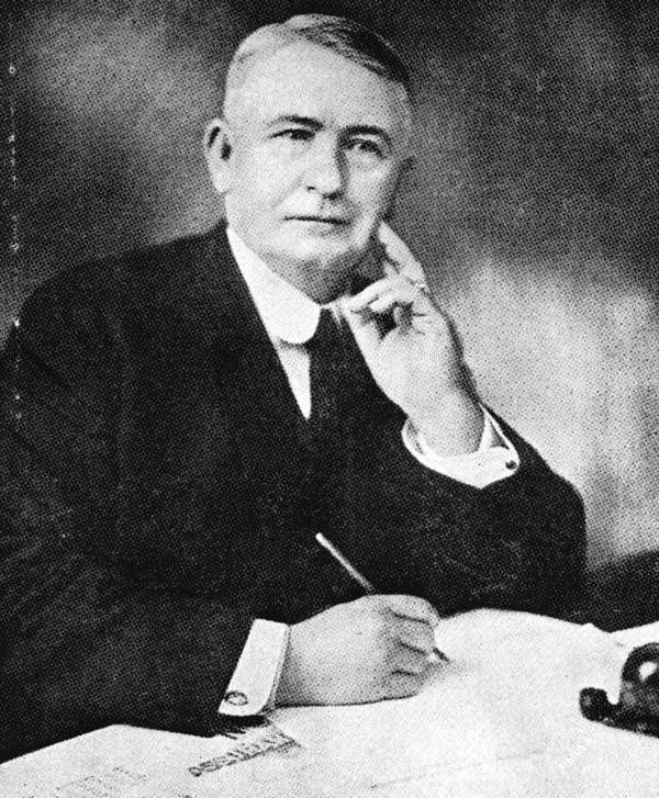 William B. Harbeson is shown in this 1923 Florida Memory photograph.  Harbeson was president of the W.B. Harbeson Lumber Co., DeFuniak Springs and Paxton. He was the president of the San Carlos Hotel in Pensacola; the New Walton Hotel in DeFuniak Springs ;the Harbeson Hotel in Camp Walton and the Cherokee Hotel in Tallahassee. He was also the president of the Camp Walton Boat Company which ran a boat daily between Pensacola and Camp Walton between 1924 and 1936.