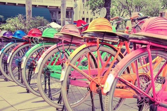Bicycles in Old Town Batavia, Jakarta