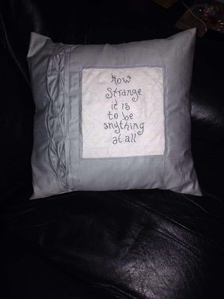 Cushion ( Alice in wonderland quote)