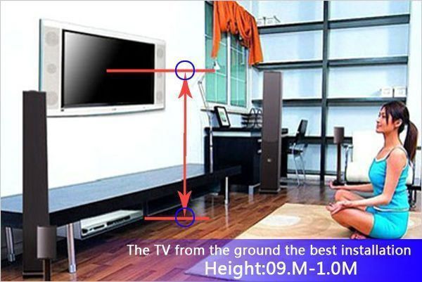 Bedroom Tv Wall Mount Height Wall Mounted Tv Tv Wall Mount