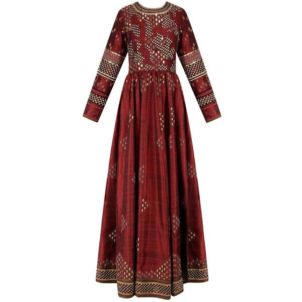 Maroon embroidered valley of flowers tunic available only at Pernia's Pop Up Shop. (40.430 RUB) found on Polyvore featuring women's fashion, tops, tunics, red top, red embroidered top, flower top, maroon top and red tunic