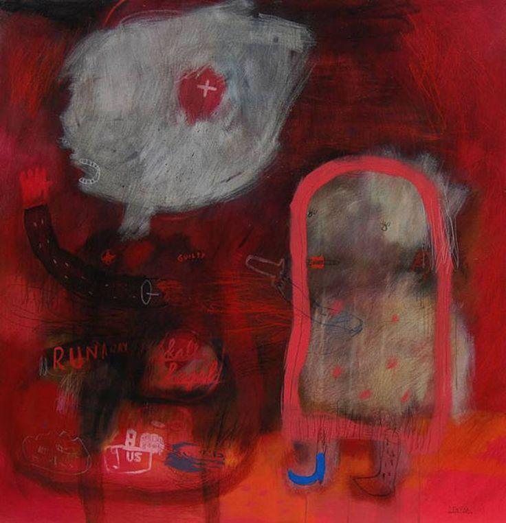"Saatchi Art Artist deny pribadi; Painting, ""she shoot the sherif"" #art"
