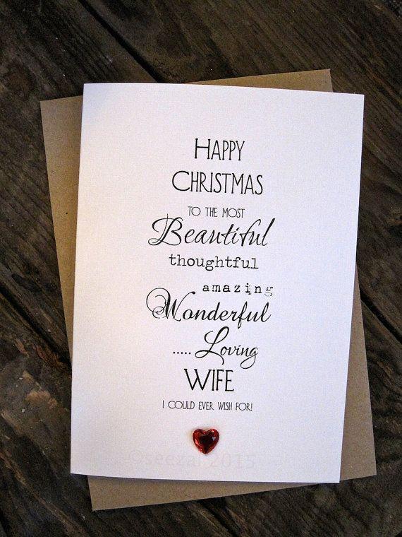 Designer Typography Christmas Card for Wife Husband Boyfriend Girlfriend Soulmate Partner Mum Fiance One I Love Simple Romantic Love