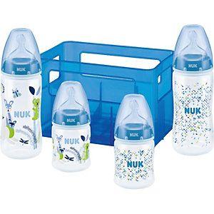 Boy Set mit 4 Anti-Colic Babyflaschen , 2x 150ml / 2x 300ml