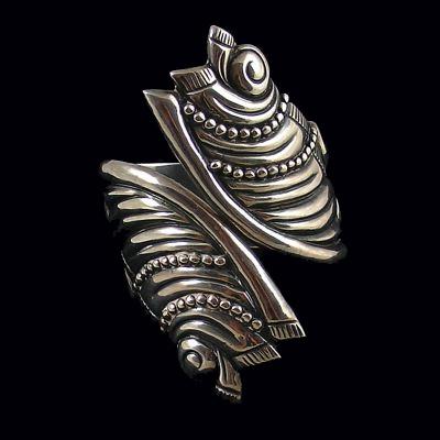 Cuff   Designer ?. Sterling silver. ca. 1940s, Taxco