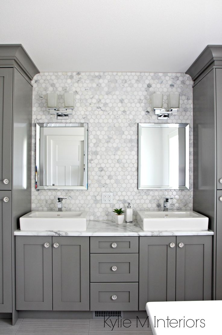 Bathroom sink backsplash ideas - A Marble Inspired Ensuite Bathroom Budget Friendly Too
