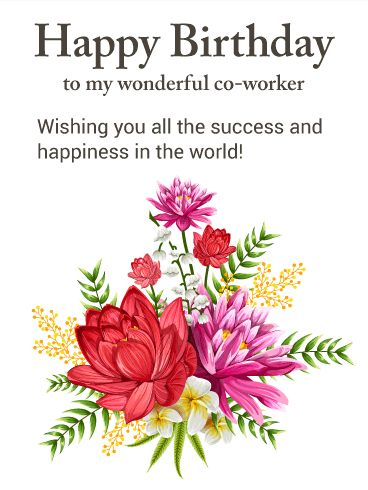 19 best birthday cards for co workers images on pinterest co gorgeous flower happy birthday card for co worker give a special co worker bookmarktalkfo Gallery