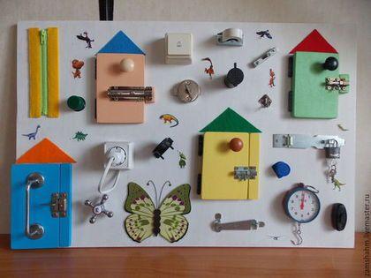 Vzdělávací hračky ruční práce.  Fair Masters - ruční.  Koupit Bizibord - rozvoj deska.  Ruční výroba.  White, igruschka, cítil