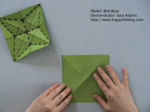 Bird Base: Instructions   Happy Folding