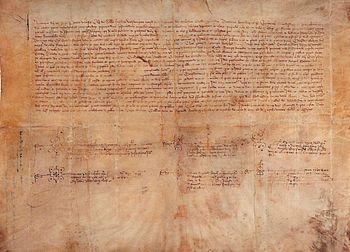 Compromiso de Caspe: acta notarial de la eleccion de Fernando I