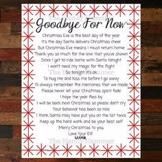 Departure Leaving Letter for your Elf Goodbye by TheHandyHammer