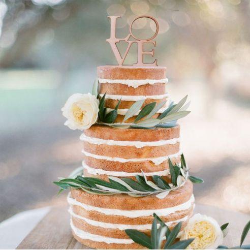 Cake topper LOVE