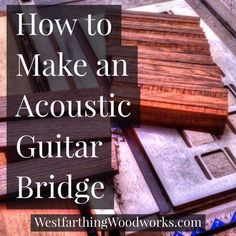 This is how I make an acoustic guitar bridge. My process is a little different form other makers, because I get through the hardest parts of the process right in the beginning. This way, you won't get near the end and ruin your bridge at the last minute b