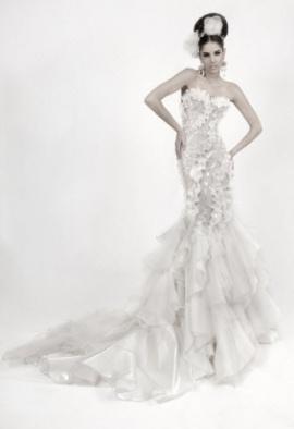 Huipil style wedding dress