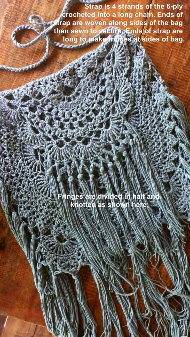 "Modify a doily pattern to make this ""Ala Miss June Desert Bag"" (inspired by Free People)."