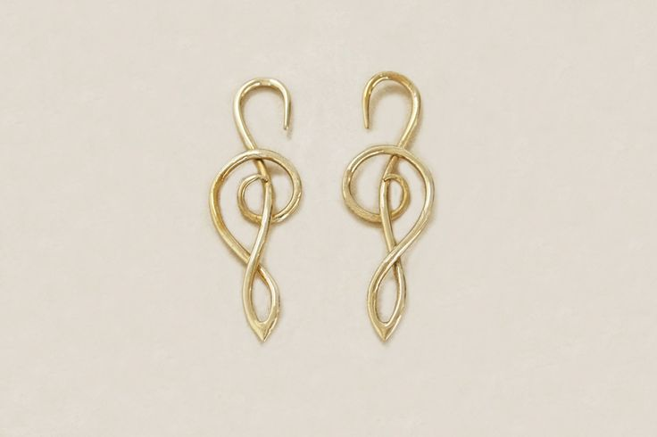 Melody Brass Earrings