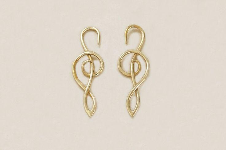 Melody Brass Earrings