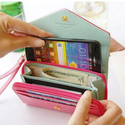 Fashion pink mobile purses