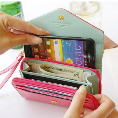 Fashion pink mobile purses